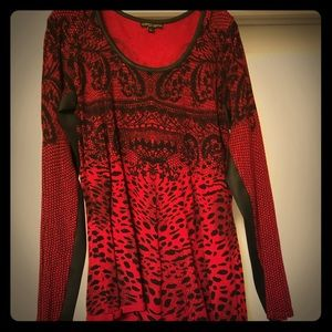 Alberto Makali animal print tunic Sz large